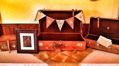 Wedding gift table and pennant banner