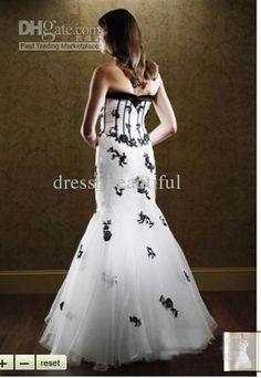 black and white wedding dress