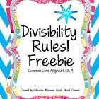 Divisibility Rules!!! I just finished teaching the divisibility rules ...