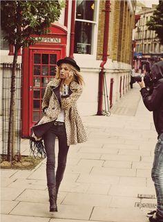 #freepeople #fp #fashion #fallfashion #leopard #london #boho #edgy #phonebooth #culture