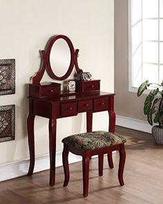 Roundhill Furniture Ashley Make Up Vanity dp BQMKHNE