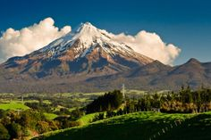 Egmont National Park encompasses the huge volcano Taranaki (or Mount Egmont, as it is also known) - New Zealand