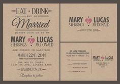 Custom wedding invitation- Kraft paper wedding invitation suite-personalized, budget wedding invitations-personalized wedding invitations on Etsy, £1.00