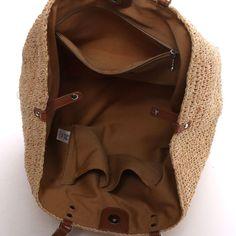 アンチフォルムデザイン Anti-Forme Design ラフィアトート(ナチュラル×キャメル) -「買ってから選ぶ。」靴とファッションの通販サイト ロコンド