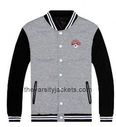 Summer Us Size Cotton Blue Baseball Letterman Jackets Pockets Lightweight Cotton