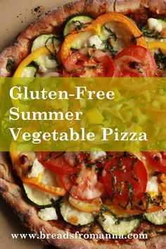 Our gluten-free pizza crust is just begging to be topped with fresh and colorful summer vegetables.