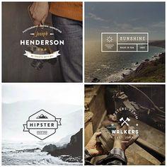 Free logo templates — vintage collection of labels Badge Design, Label Design, Web Design, Logo Design, Graphic Design, Hipster Design, Hipster Logo, Retro Logos, Vintage Logos