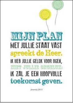 Poster Enjoy - Mijn plan met jullie staat vast | | Kameel.nl | Christelijke boeken, films, muziek, gifts en meer!