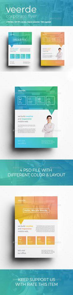 Corporate Flyer Template #design Download: http://graphicriver.net/item/veerde-corporate-flyer/12605378?ref=ksioks