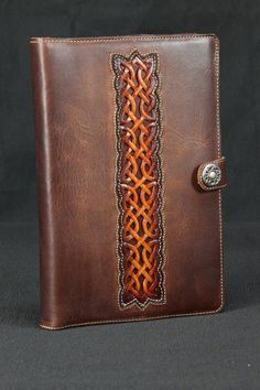 Leather Journal brown leather journal Celtic by EthosCustomBrands, $175.00