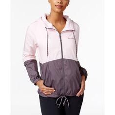 Columbia Flash Forward Fleece Lined Windbreaker ($60) ❤ liked on Polyvore featuring activewear, activewear jackets, columbia activewear, columbia sportswear and columbia