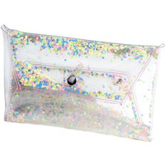 Clear purse clutch transparent bag glitter clutch sequin glitters... (174 PLN) ❤ liked on Polyvore featuring bags, handbags, clutches, clear handbags, glitter evening bag, clear plastic handbags, hand bags and evening handbags