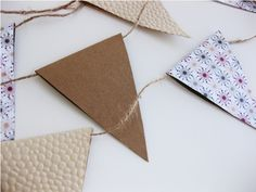 diy paper bunting with tutorial and printable template!