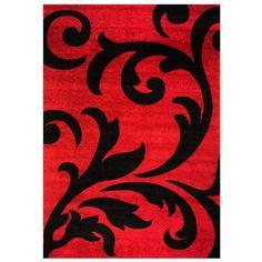 Modern Rug Black & Red High Quality Carpet Polypropylene  #decor #carpet #rugs #trendy #instahome #myhome #diy #classy #fab #homeideas