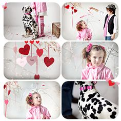 the paper hearts hanging from the branches would be super easy and look really cute.