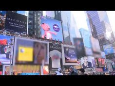 LG Interactive Billboard in Times Square - YouTube