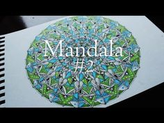 Drawing a detailed Mandala | Copic Marker Coloring - YouTube