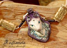 Woman Wolf Totem necklace ##woman #wolf #necklace #handmade #unique #art #totem #wild #woodland #boho #hippy #gipsy #mystic #reiki #lupo #donna #donnalupo #wolfwoman #fogliaviola