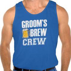 Groom's Brew Crew funny groomsman beer