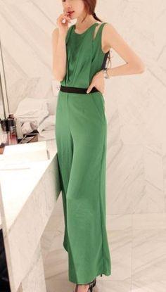 861d2d31ca Charming Off-shoulder Pure Color Jumpsuit Green. Green VestRompers WomenJumpsuitsPlaysuitsWide  LegHigh WaistSiameseTulumMaxi Dresses