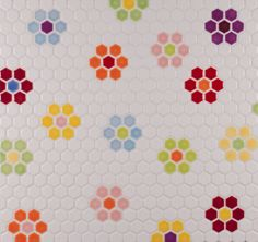 flooring pattern Inspiration and design ideas from Portlands premier tile manufacturer and showroom. Pratt and Larson - Tile Handmade in America. Hexagon Tiles, Mosaic Tiles, Hex Tile, Hexagon Pattern, Subway Tile, Floor Patterns, Tile Patterns, Best Bathroom Flooring, Bathroom Kids