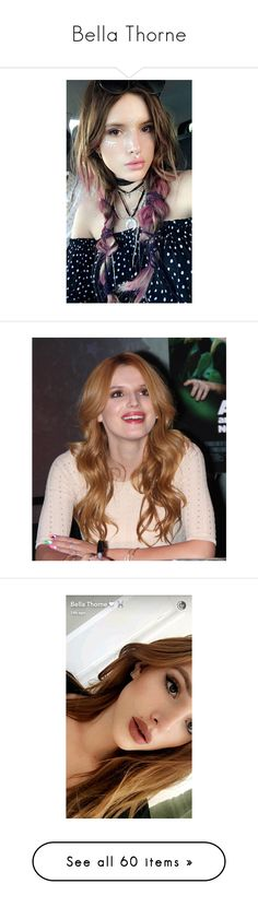 """""""Bella Thorne"""" by anjinha1267 on Polyvore featuring hair, bella thorne, hair red, pictures, models, people, backgrounds, makeup, girls e anna"""