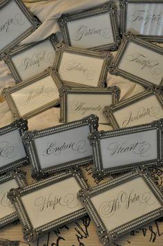 Vintage Table Names
