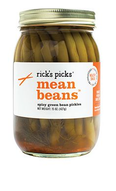 Rick's Picks Mean Beans Spicy Green Bean Pickles 15 oz, Multicolor Crispy Green Beans, Pickled Green Beans, Dilly Beans, Bloody Mary Bar, Mary Recipe, Fresh Market, Brunch Recipes, Pickles, Veggies