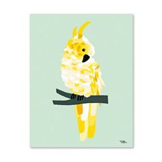Yellow Cockatoo Poster from Michelle Carlslund Illustration. Jungle Wallpaper, Tier Wallpaper, Print Wallpaper, Animal Wallpaper, Art And Illustration, English Coonhound, Yellow Wall Art, Cute Cows, Creative Workshop
