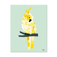 Michelle Carlslund Poster groß - Yellow Cockatoo - Michelle Carlslund Illustration