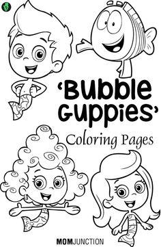 Top 15 Bubble Guppies Coloring Pages // Las mejores 15 páginas para colorear de los Bubble Guppies