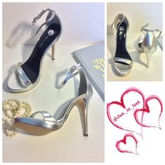 "Lovina Silver Heels 9 & 7.5 left A thin ankle strap secures the foot in a chic and simple high heel sandal. Sizing:  7.5 and 9 available True to size. - Open toe - Single strap vamp - Ankle strap side buckle closure - Approx. 4.5"" heel, 0.5"" platform - Silver Materials: Manmade upper and sole    No trades  ✅ Reasonable offers welcomed. ✅ Happy Poshing  Michael Antonio Shoes Heels"