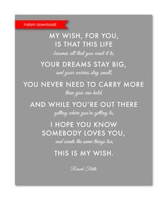 Godson nursery art print perfect christening baptism gift for rascal flatts my wish this is my wish for you baptism gift grey nursery gray nursery by fairplayprintables on etsy negle Images