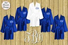 FREE ROBE Set of 7 or MORE Silk Satin Robes by twobroadsdesign