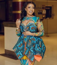 40 Gorgeous African Fashion Designs For Women – Latest Admirable Ankara Styles To Try On, Ankara Styles African Dresses For Kids, African Prom Dresses, African Fashion Dresses, Ankara Styles For Women, Ankara Dress Styles, African Print Fashion, Africa Fashion, Skirt Fashion, Fashion Outfits