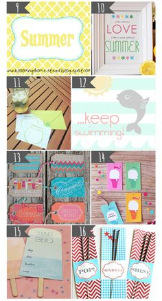 We're getting excited for these #summer #printables! Which one you do you like best? #DIY