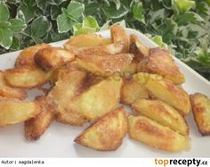 Strouhankové brambory Snack Recipes, Snacks, Side Dishes, French Toast, Chips, Potatoes, Chicken, Cooking, Breakfast