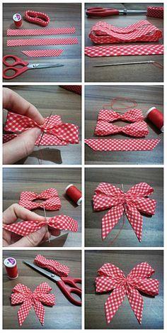 Shabby Chic Deko selber machen: Inspirierende Ideen und praktische Tipps - - New Ideas Ribbon Art, Diy Ribbon, Ribbon Crafts, Ribbon Bows, Fabric Crafts, Sewing Crafts, Sewing Projects, Ribbons, Bow From Ribbon