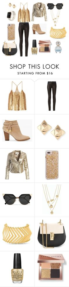 """Gold love"" by hollythehippo on Polyvore featuring TIBI, rag & bone, White House Black Market, Valentino, Sans Souci, Case-Mate, Fendi, Talbots, Steve Madden and Chloé"