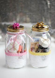 DIY Geschenkidee Maniküre Set im Glas Manicure in a jar christmas in a jar