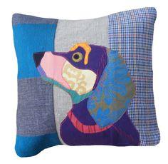 Dogs in Art at the StockBridge Gallery - Cushion - Oscar the Dachshund (http://www.dogsinart.com/cushion-oscar-the-dachshund/)