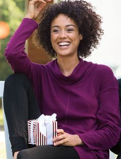 Give yourself the gift of a comfortable sweater!  Plus Size Fashion from Woman Within.