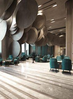en vez de circulos, granos de cafe   WAN INTERIORS:: Wuhan Wushang Mall International Cinema by One Plus Partnership Limited