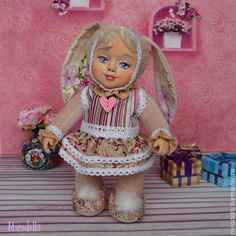 Купить Зайка -Заинька. Тедди-долл кукла зайка игрушка. - розовый, заинька, зайка, зайчик