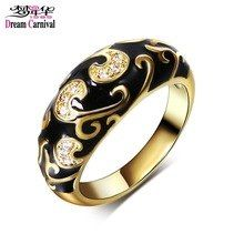 Carved Design Popular Engagement Ring For Women Gold-Color Black Epoxy Vintage Wedding Jewelry Anillo Moda Jewelry Sets, Jewelry Rings, Unique Jewelry, Jewellery, Popular Engagement Rings, Engagement Jewelry, Wedding Engagement, Vintage Wedding Jewelry, Ring Verlobung