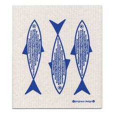 Blue Fish Dishcloth ($3.72) ❤ liked on Polyvore featuring home, kitchen & dining and kitchen linens