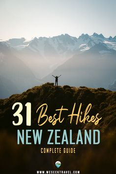 The complete list of the absolute best hikes in South Island New Zealand! Hand-picked day walks and overnight tramps from the wildlife coast of Kaikoura to the jurassic Fjordlands. Pacific Destinations, Top Travel Destinations, Travel Around The World, Around The Worlds, Milford Track, Waterfall Trail, Adventures Abroad, New Zealand South Island