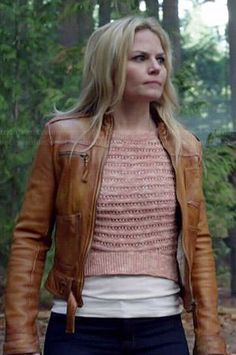 Emma's pink cropped sweater on Once Upon a Time.  Outfit Details: http://wornontv.net/39630/ #OUAT