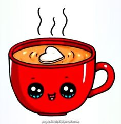 Hot Chocolate Mug Hot Chocolate Mug - lea - Zeichnung Kawaii Girl Drawings, Cute Food Drawings, Cute Animal Drawings Kawaii, Disney Drawings, Cartoon Drawings, Kawaii Disney, Griffonnages Kawaii, Arte Do Kawaii, Kawaii Anime