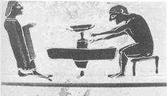 Niedrig gelagerte Scheibe mit starrer Achse, im Boden eingelassen und verankert. Der Töpfer dreht vom Stock mit Hilfe eines schmalen Drehwerkzeuges (Schiene oder eher Abdreheisen).